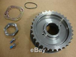 32 tooth TRANSMISSION DRIVE PULLEY With LOCK PLATE KIT STEEL HARLEY EARLY BIG DOG