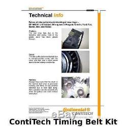 ContiTech Timing Belt Kit Set Part No CT1092K1 137 Teeth OE Quality