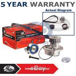 Gates Timing Cam Belt Water Pump Kit For Citroen Peugeot Tensioner KP25581XS