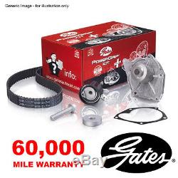 Gates Timing Cam Belt Water Pump Kit For Renault 19 Clio I Extra