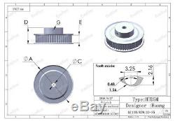 HTD 5M 90/15 Tooth Width 21mm Timing Pulley Belt set kit Reduction Ratio 61 CNC