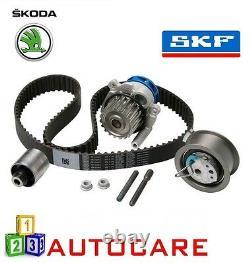 Skoda Octavia 1.9 TDI Engine Timing Belt Kit Water Pump Cambelt Cam Belt By SKF