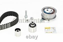 Timing Belt + Pulley KIT CONTITECH Fits AUDI VW SEAT SKODA A1 1.6-2L L4 L6