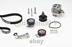 Ceinture De Chronométrage + Kit Pompe À Eau Poulie Contitech S'adapte Vw Seat Bora 1.4l V8 L4 L6