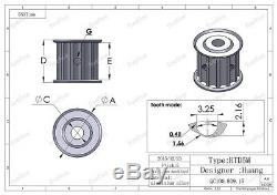 Htd 5m Largeur De Dent 90/15 Largeur 21mm Kit Kit Courroie De Poulie Rapport De Réduction 61 Cnc