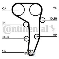 Timing Belt + Poulie Kit Contitech S'adapte Audi Vw Seat Mitsubishi 2l L4 L6 L5